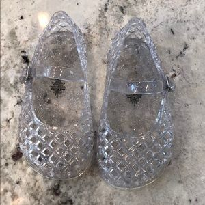 Clear jelly shoes
